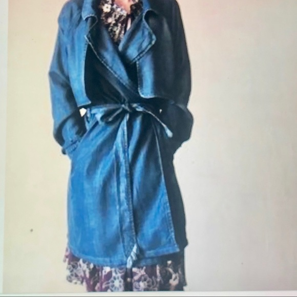 Anthropologie Jackets & Blazers - Anthropology Cloth & Stone chambray trench coat M